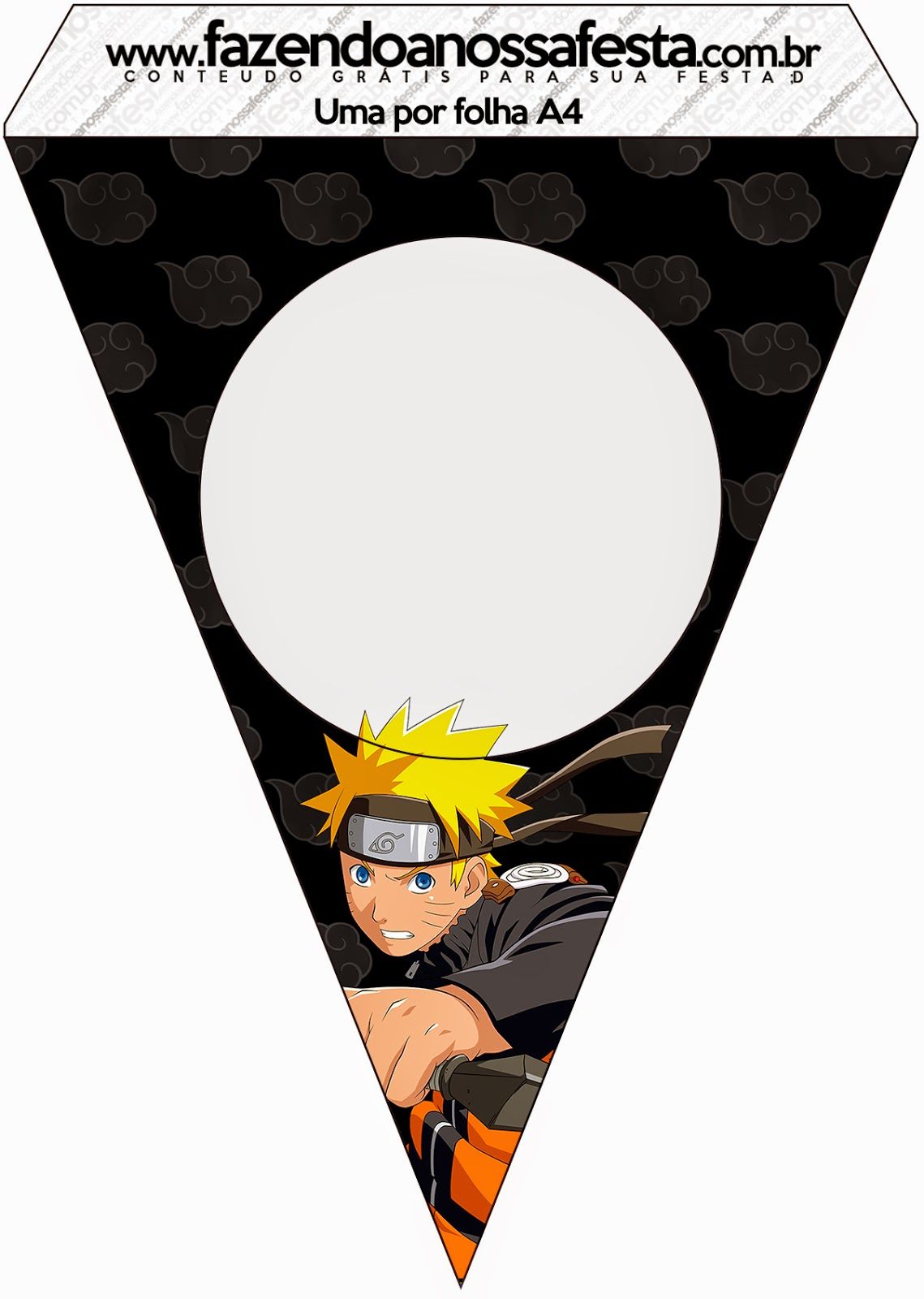 Free Printable Bunting of Naruto.