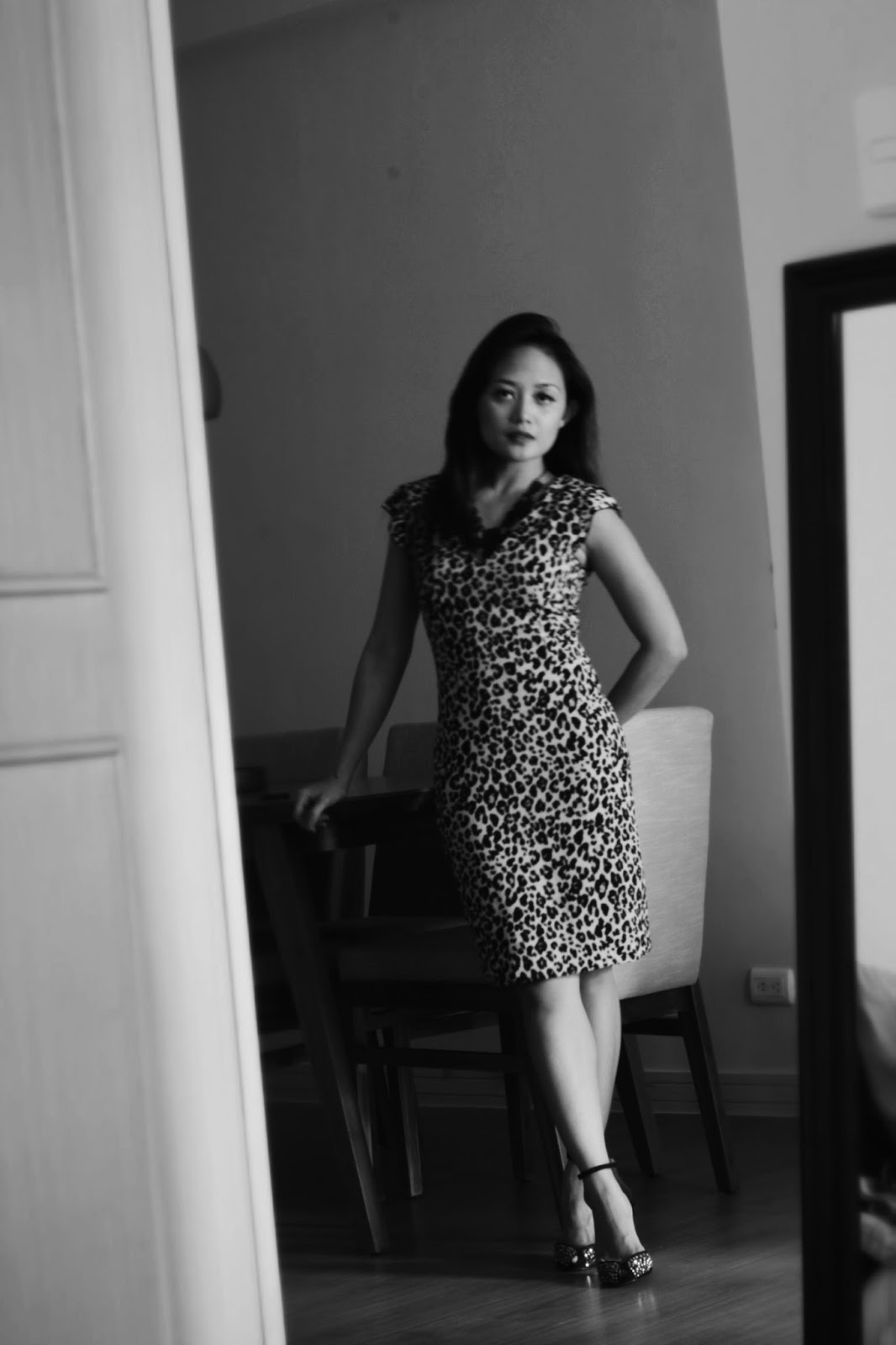 workwear, leopard print dress, H & M dress, outfit to work