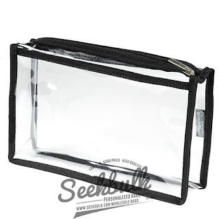 clear plastic make up bags