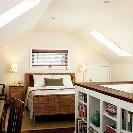 Modern Architecture Attic Bedroom Designs Ideas