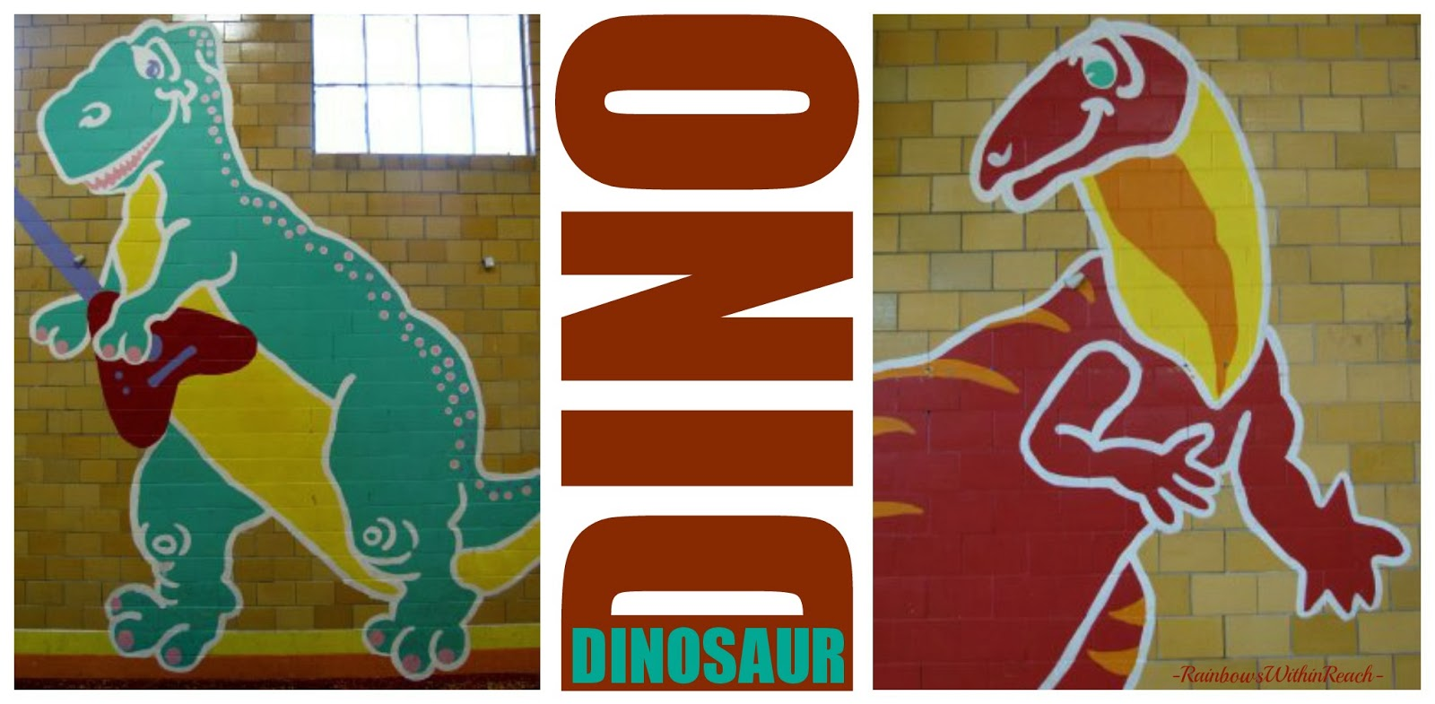Dinosaur Murals via RainbowsWithinReach