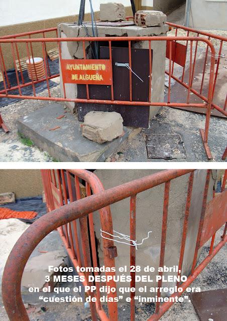 Algueña psoe pp pozo San Juan barrio
