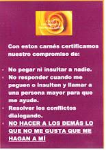 NUESTRO COMPROMISO DE NO A LAS PELEAS