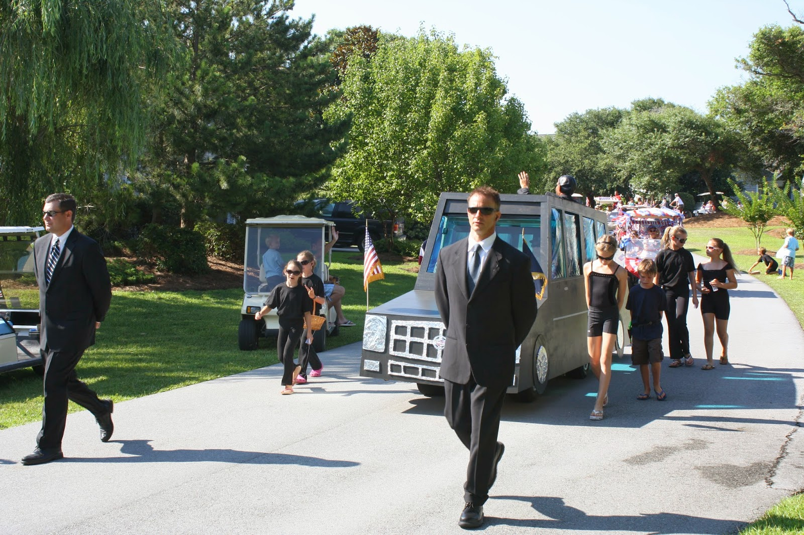Stars in Stripes in a Golf Cart Parade | The Musings of a TGtM ... on