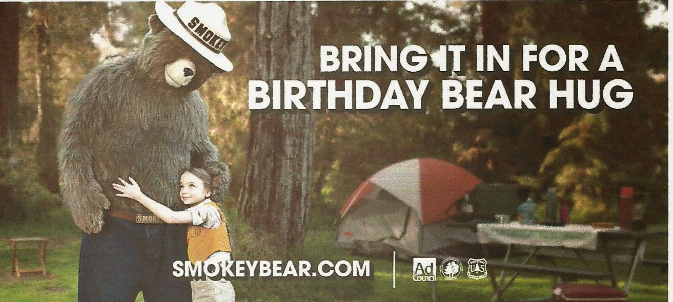 FRIDAY, AUGUST 8TH @10 a.m. SMOKEY BEAR'S 70th BIRTHDAY BREAKFAST!