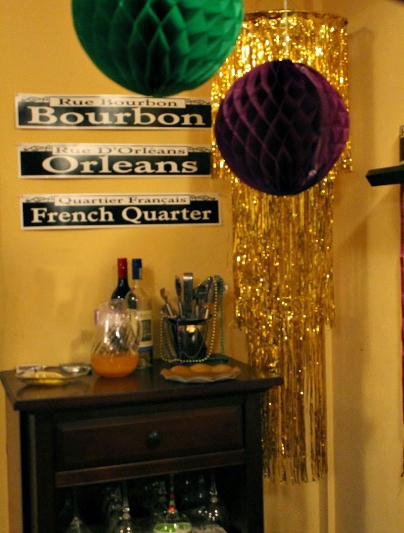 NOLA street signs, French Quarter, Bourbon Street, Rue D'Orleans