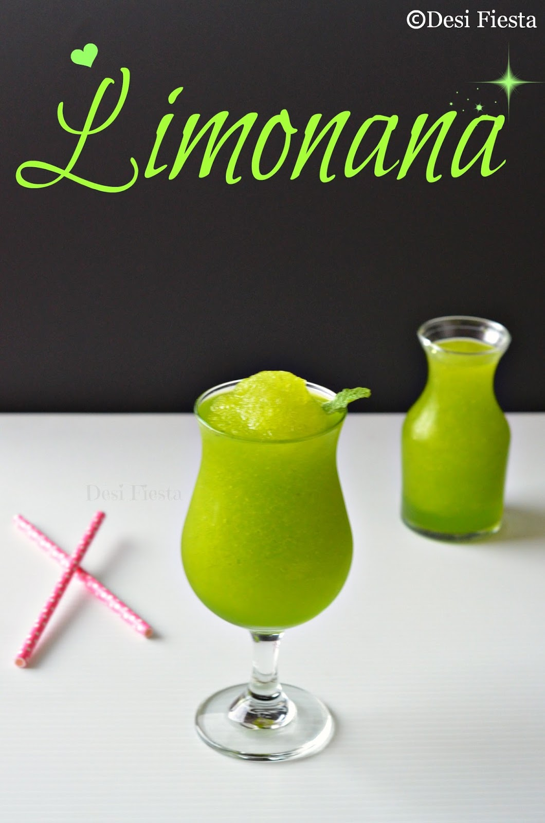 Desi Fiesta : Limonana | Frozen Mint Lemonade |National Drink of ...