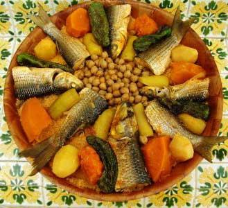 Couscous djerbien au poisson recettes tunisiennes - Cuisine tunisienne traditionnelle four ...