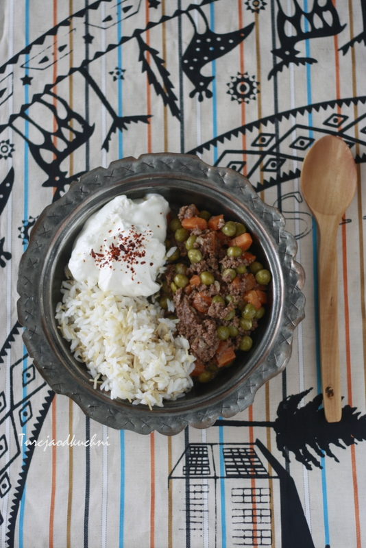 wolowina mieso mielone groszek marchewka kuchnia turecka kuchnia arabska