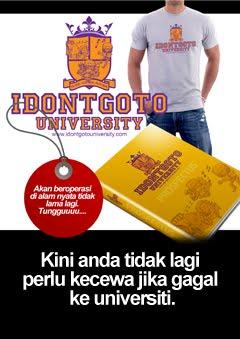 Tidak pergi ke universiti?