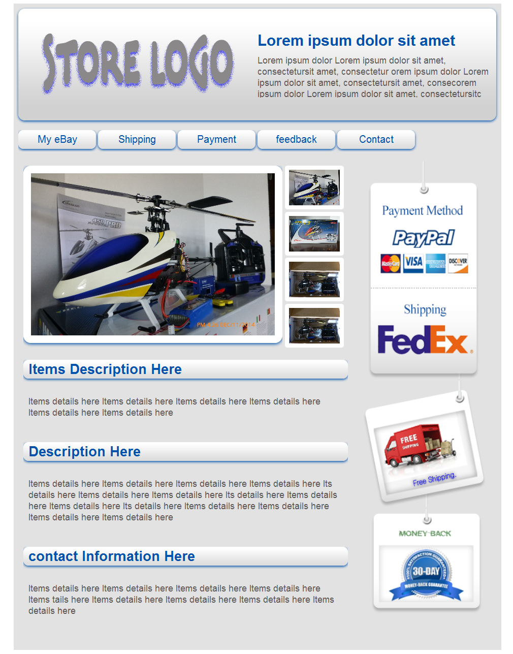 Ebay Listing Template Ebay Html Listing Template Free Download