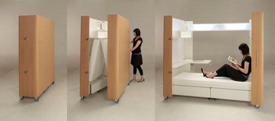 Wall beds ecuador muebles multifuncionales ideales para - Muebles para espacios reducidos ...