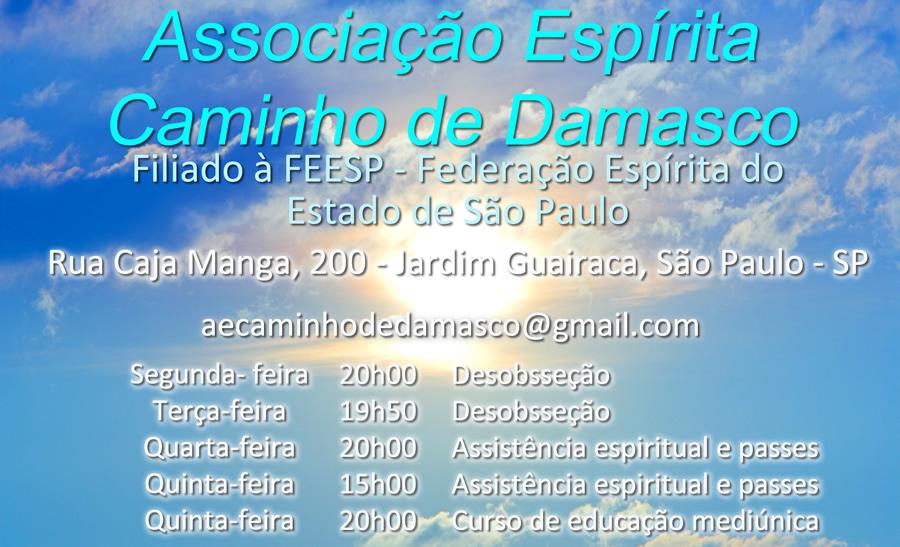 ASSOCIAÇÃO ESPÍRITA CAMINHO DE DAMASCO