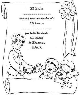 Diplomas Para Alumnos De Kinder