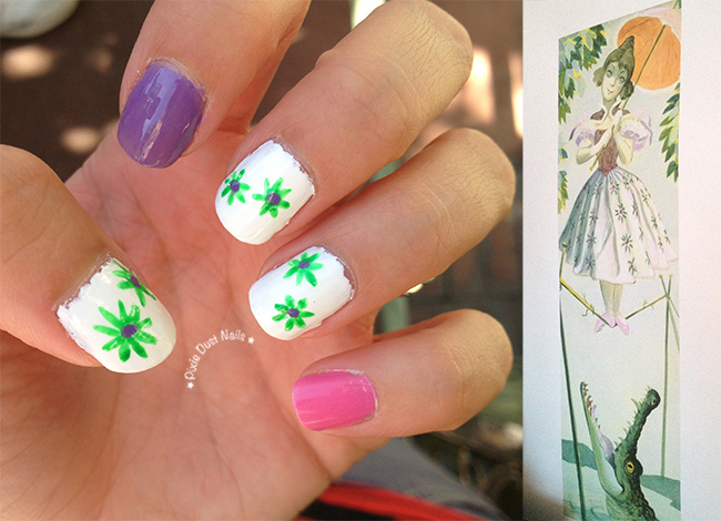 Haunted Mansion Nails inspired by the Tightrope Walker