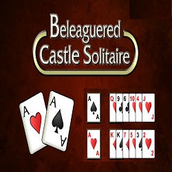 Beleaguered Castle Solitaire Card Game