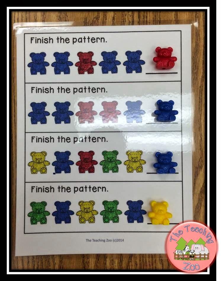 http://www.teacherspayteachers.com/Product/FREEBIE-Colorful-Bears-Patterning-Counting-Adding-Mats-1482454