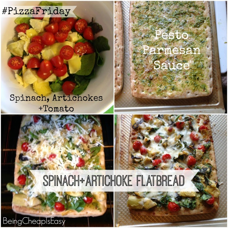Spinach Artichoke Pizza, Aldi Pizza Crust, #PizzaFriday, Starting family traditions, Game Night, Movie Night