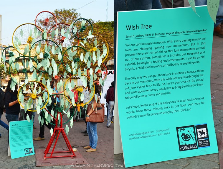 Wish tree installation, by the Visual artists.