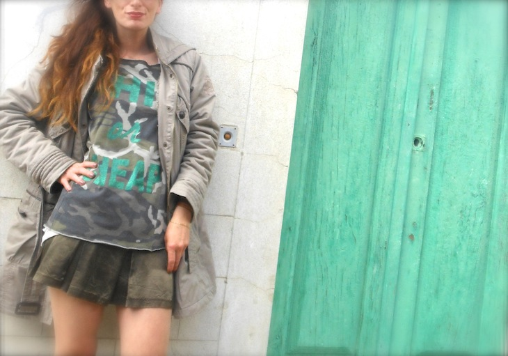 THE FASHIONAMY by Amanda: Outfit camo, verde militare, parka
