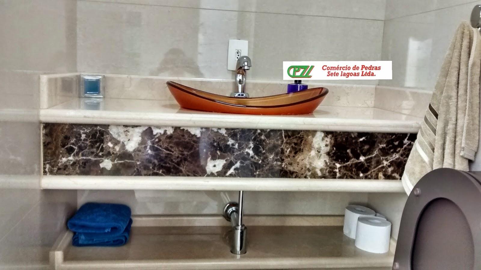 BANHEIROS MARMORARIA SETE LAGOAS #0C3166 1600x898 Bancada Banheiro Crema Marfil