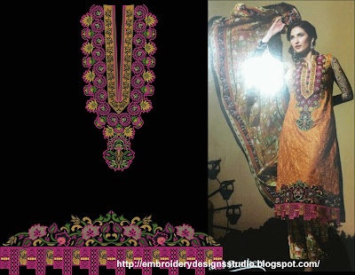 Punjabi embroidery for bridal dress
