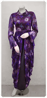 model baju gamis batik modern