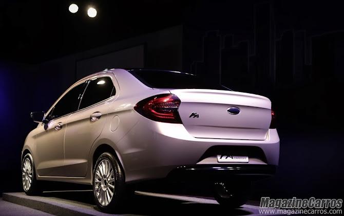 empresa chama oficialmente o modelo de novo Ford Ka Concept 4 portas
