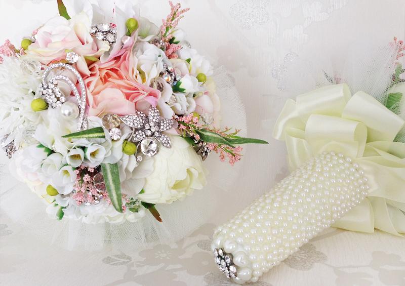 ramo de novias y complementos Ramos broche blog bodas retales de bodas