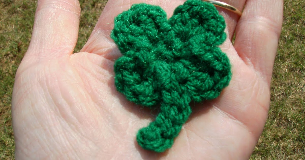 Free Crochet Patterns Four Leaf Clover : Scrap Yarn Crochet: Free Four Leaf Clover Crochet Pattern