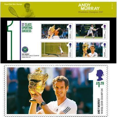Andy Murray Wimbledon Stamps