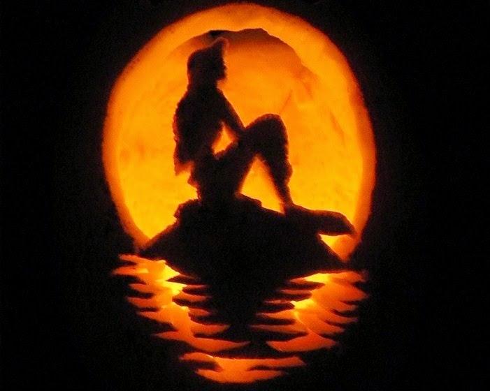 little mermaid pumpkin