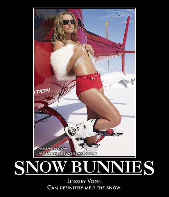 Hot Dog Ski Bunny