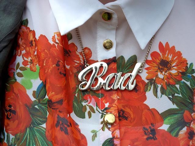 river island bad necklace primark floral shirt kardashian kollection bag parka ASOS ring