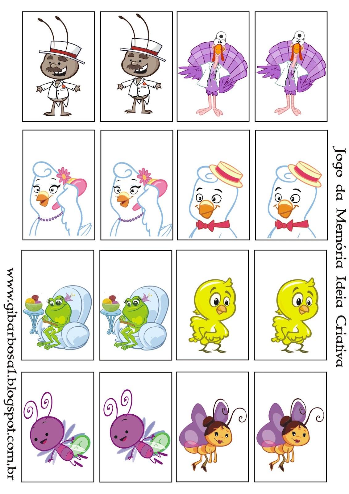 Desenhos Para Colori Jogos de Memoria objetos animais e muito mais desenhar