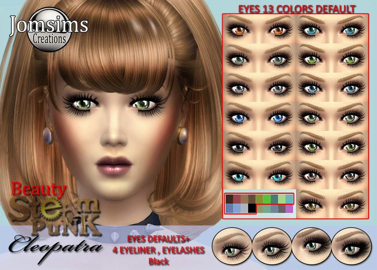 My Sims 4 Blog Steampunk Cleopatra Clothing Eyes Makeup And Accessories Set By JomSims