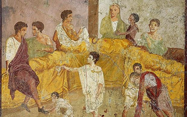 Incontro scontro i giovani dell 39 antica roma e quelli del for Cibi romani
