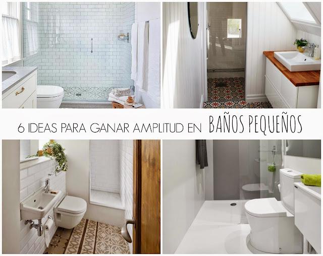Ideas Reforma Baño Pequeno:100 tonos de verde}: IDEAS: 6 TRUCOS PARA GANAR AMPLITUD EN BAÑOS