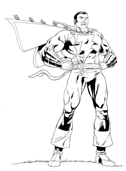 Captain Marvel Shazam Drawings
