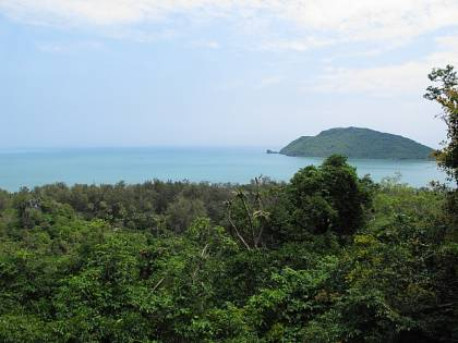 a beautiful sea view from track to Phraya Nakhon Cave in Thailand