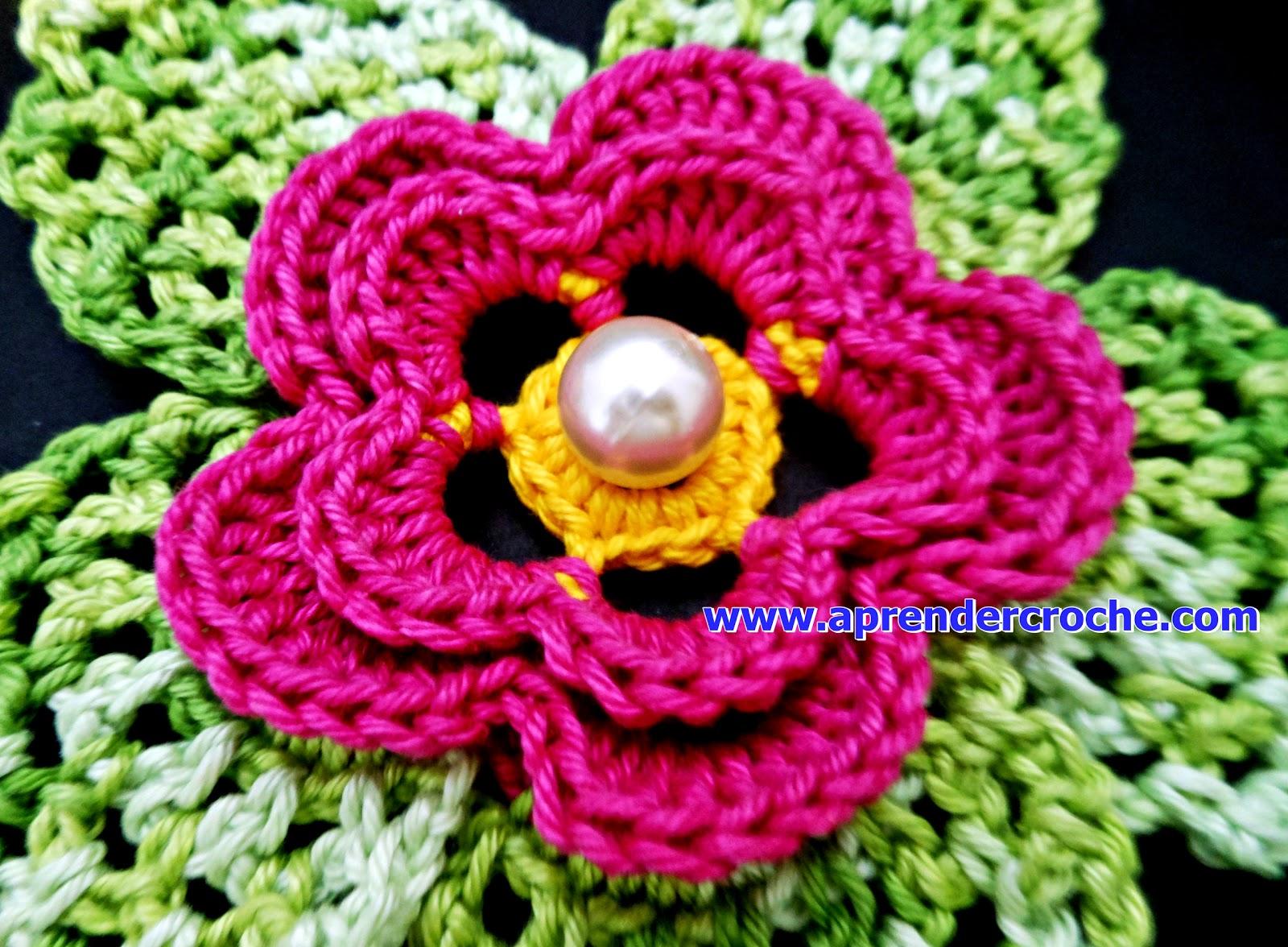 aprender croche flores duna borboto de folhas rosa verde edinir-croche loja curso de croche dvd