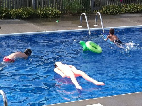 Parent Of The Year Award Blow Up Dolls As Rafts