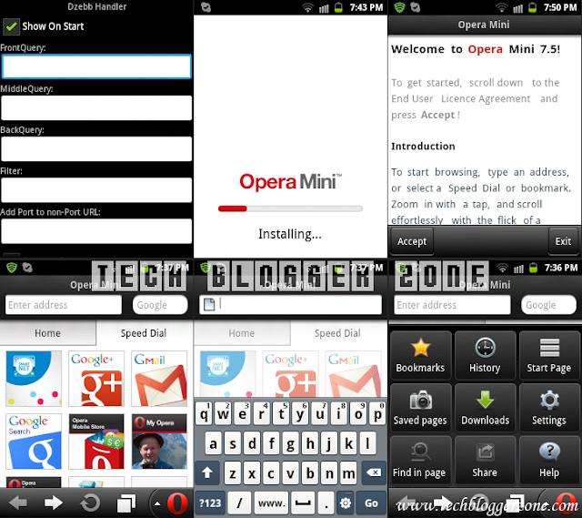 Opera Mini 7.5.1 Handler For Android Phone