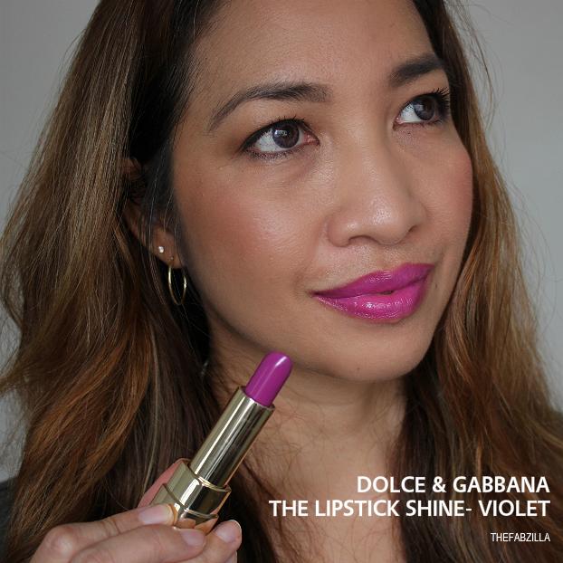 dolce and gabbana lipstick shine violet