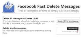 Borrar mensajes archivados en Facebook Facebook Fast Delete Messages
