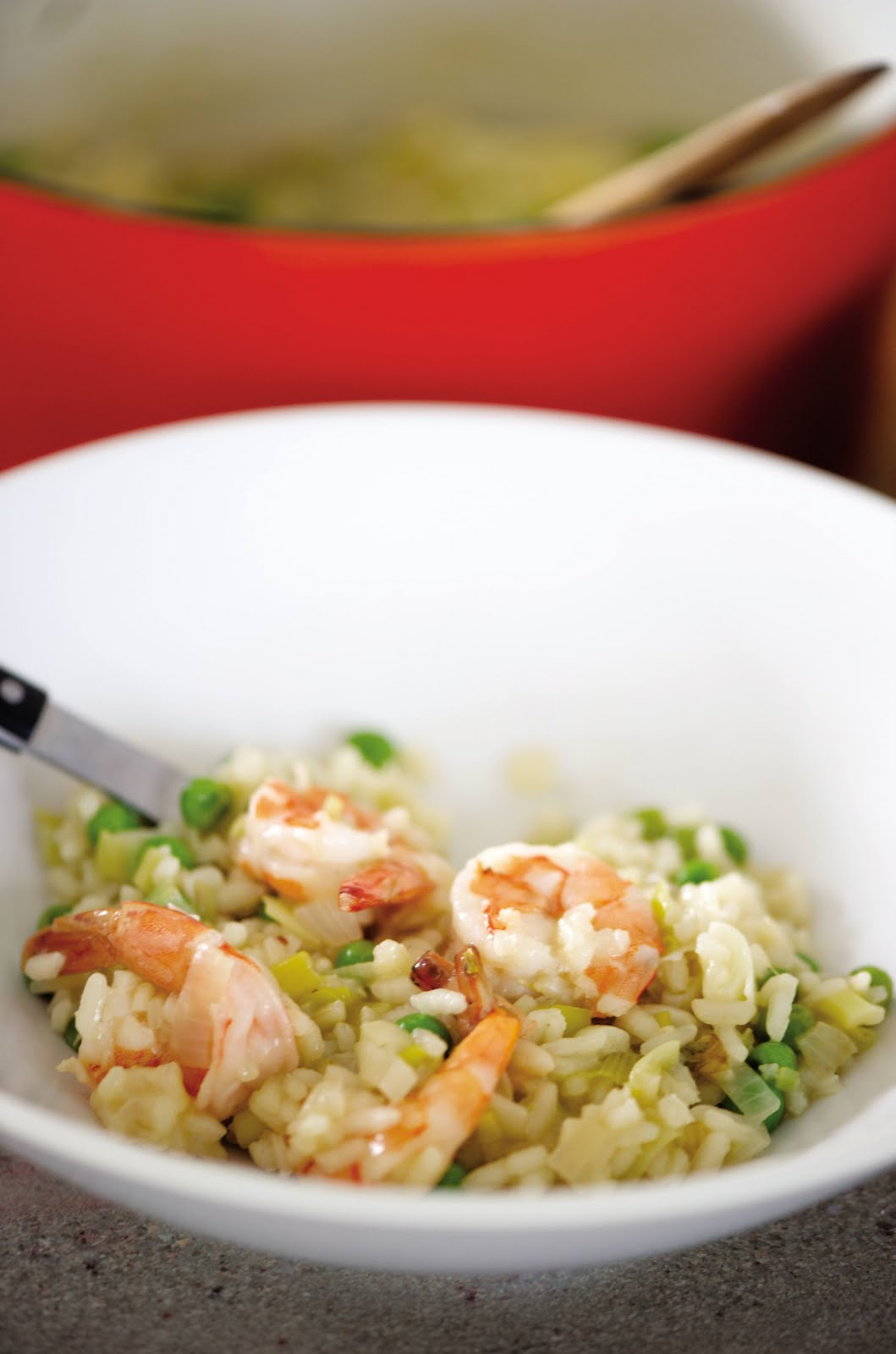 huge risotto fan and shrimp risotto with sweet peas shrimp risotto ...