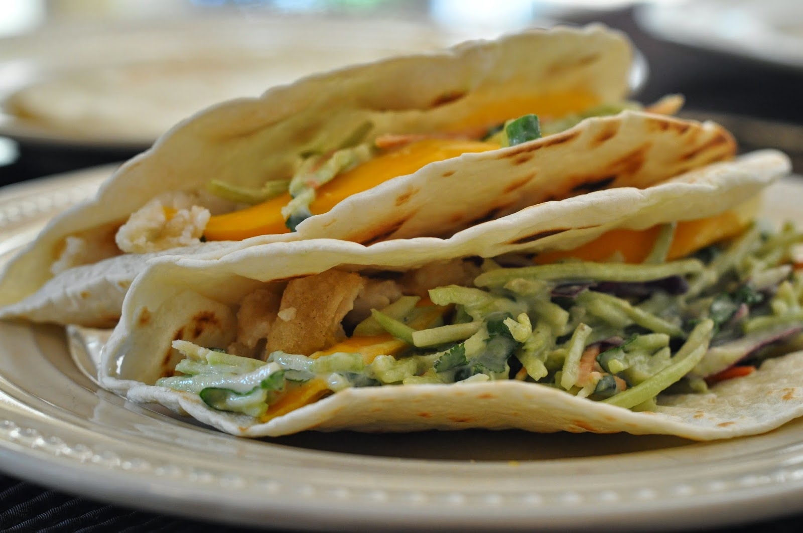Mennonite girls can cook fish tacos with broccoli slaw for Fish tacos with coleslaw