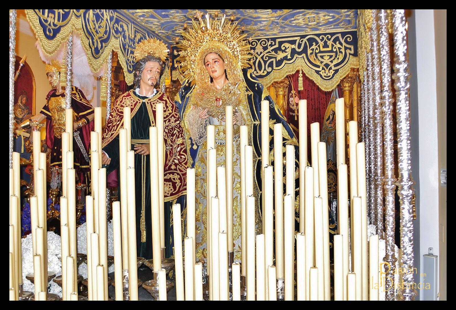 Jesús Despojado bambalinas, techo de la Carretería 1886 hermanas Antúnez