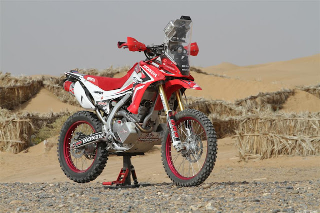Nice view of the Honda CRF250L rally