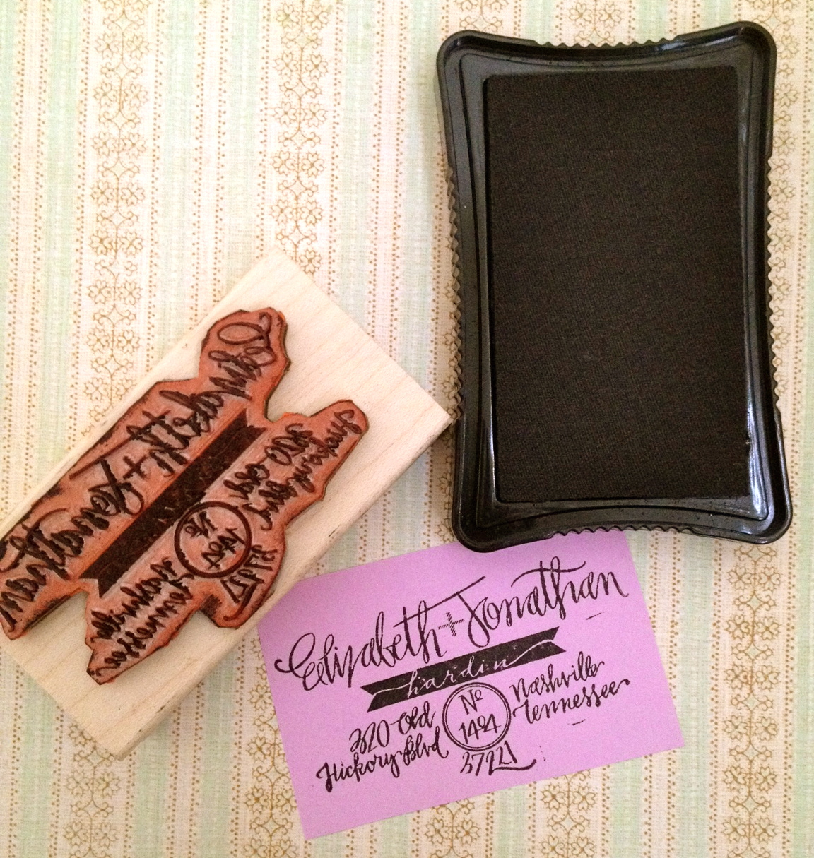 Hardink Calligraphy Custom Stamps